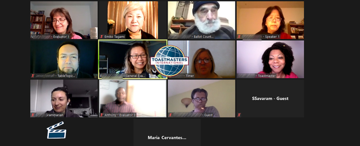 Spotlight toastmasters highlights from AWAKEN THE SPARK WITHIN RECAP meeting on November 7, 2020